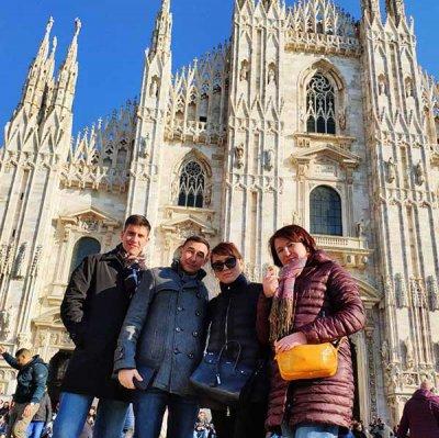 Команда NEOSTYLE в Италии, в городе Милан