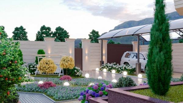 Проект ландшафтного дизайна для солидного дома