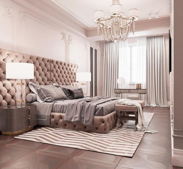 Дизайн квартиры в современной классики ЖК Кожомкул
