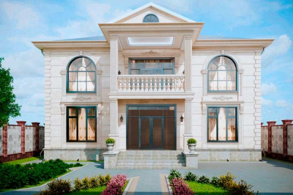 Красивый домик в классическом стиле