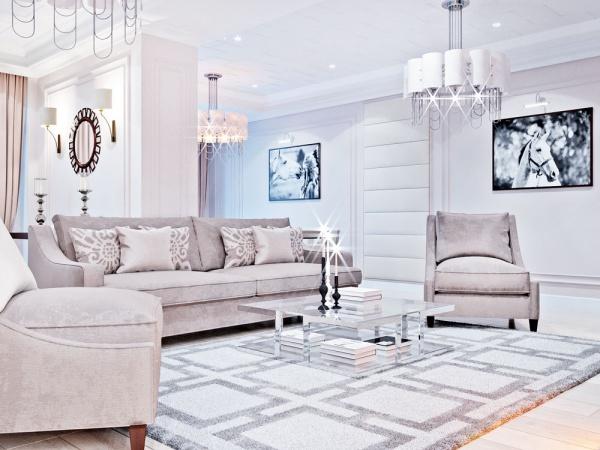 Дизайн квартиры в современной классики. Парк Асанбай