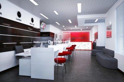 Дизайн офисов для «Optima Bank»